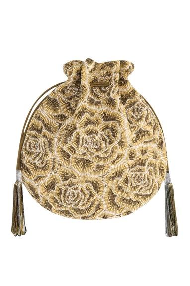 Japanese Seed Bead Embroidered Potli Bag