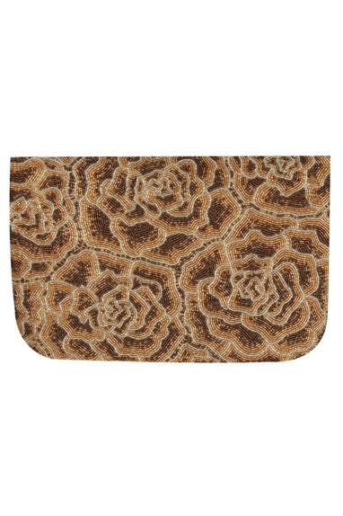 Japanese Bead Embroidered Flapover Clutch