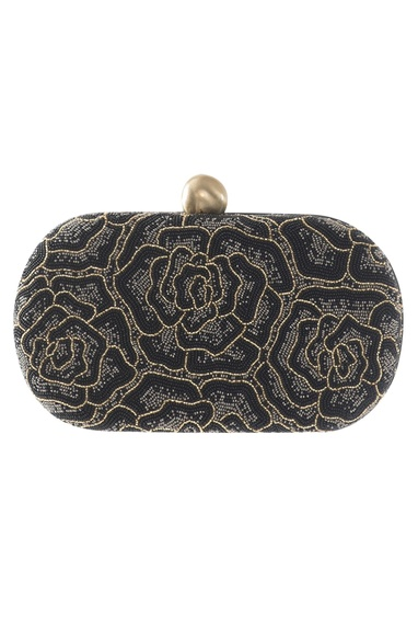 Oval Embroidered Clutch