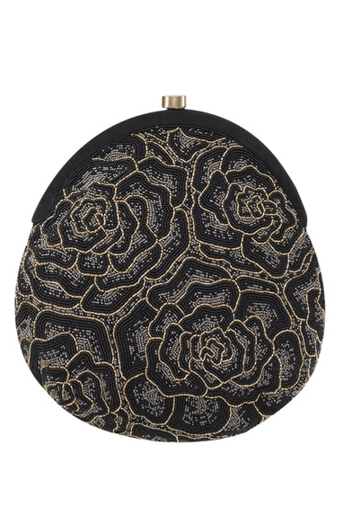 Rose Bead Embroidery Clutch