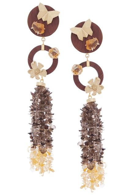Gold plated uncut earrings