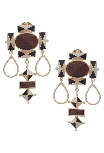 Geometric Gold Plated Earrings