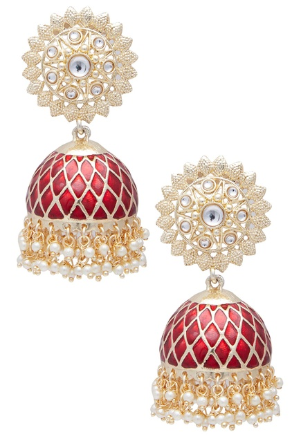 Pearl Layered Jhumka Earrings