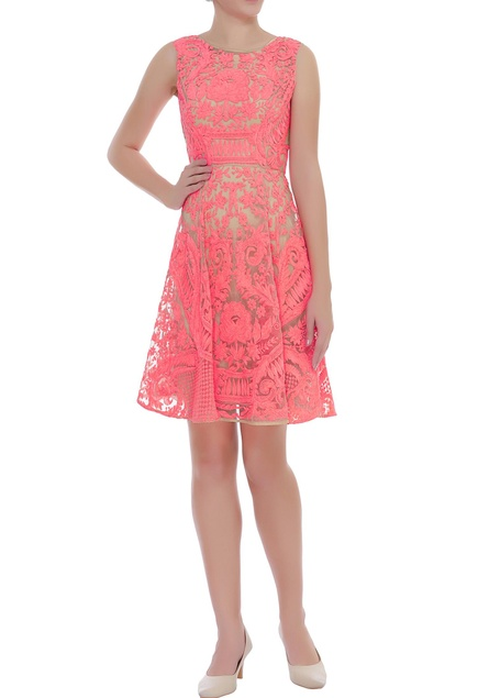 Floral Dori Embroidered Dress