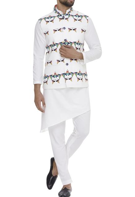 Geometric Digital Printed Nehru Jacket