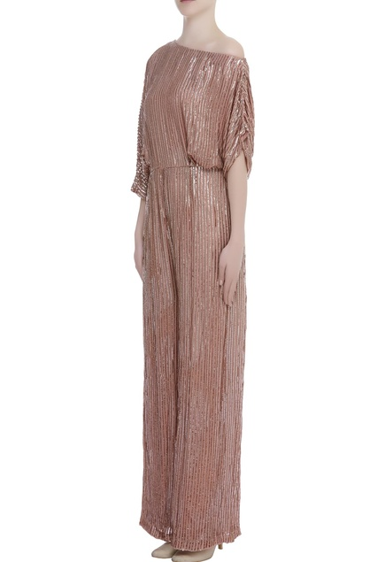 Sequin embroidered jumpsuit