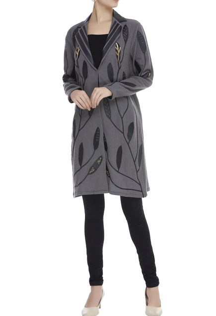 Applique Embroidered Long Jacket