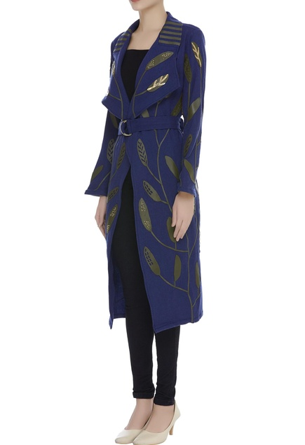 Applique Embroidered Trench Coat