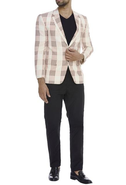 Checkered Patten Blazer