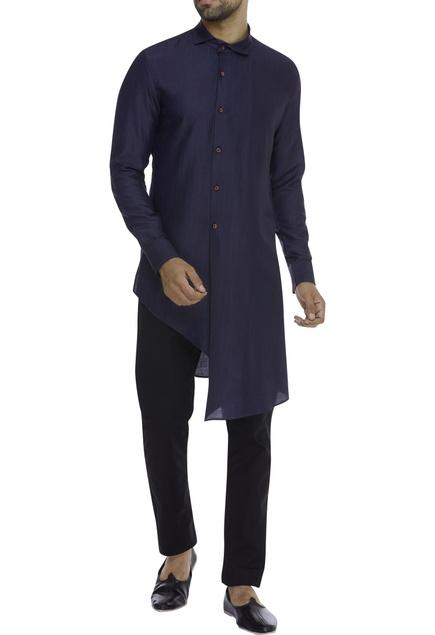 Silk Asymmetric shirt kurta