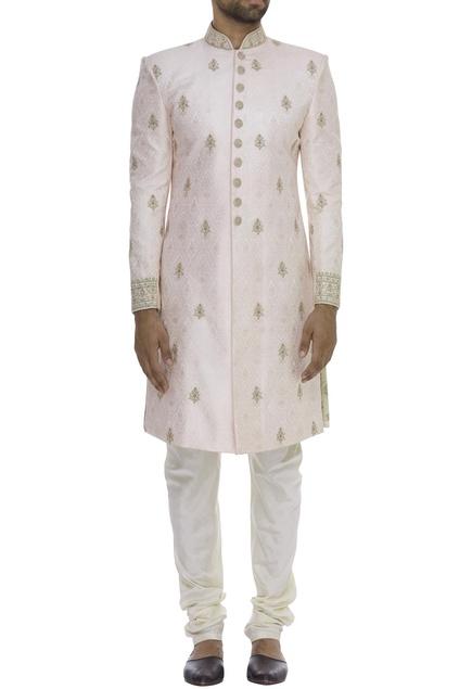Floral Butti Embroidered Sherwani Set