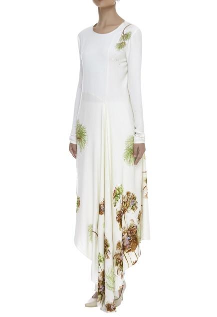 Floral Print Asymmetric Tunic