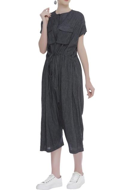 Handloom cotton Cropped jumpsuit