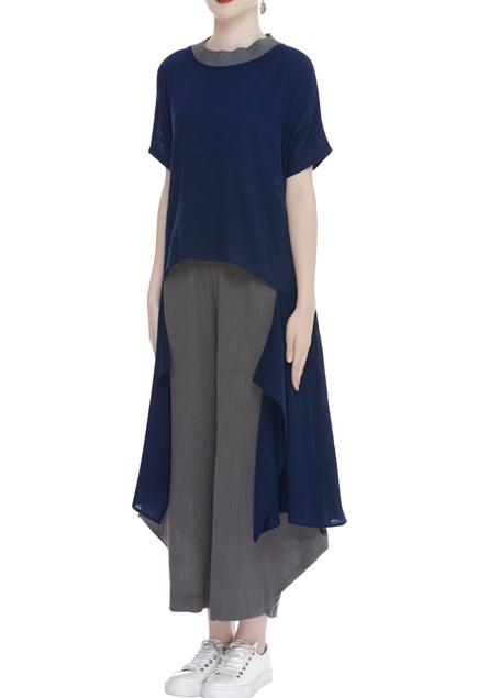 Asymmetric Handloom cotton top
