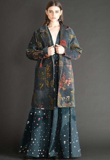 Floral Over-Sized Coat
