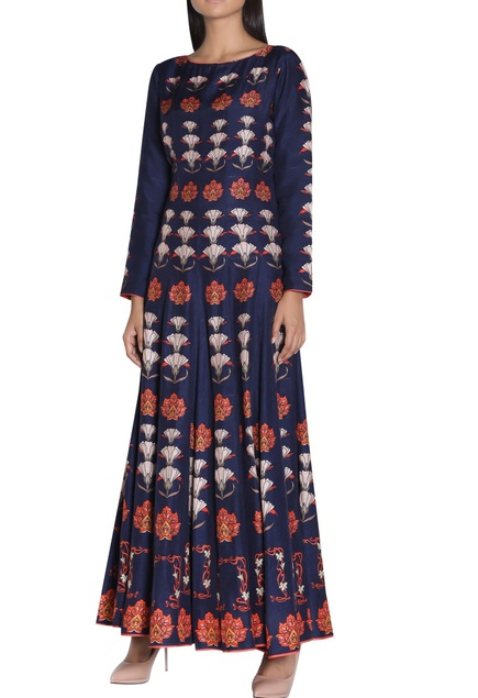 Printed anarkali kurta with long sleeves