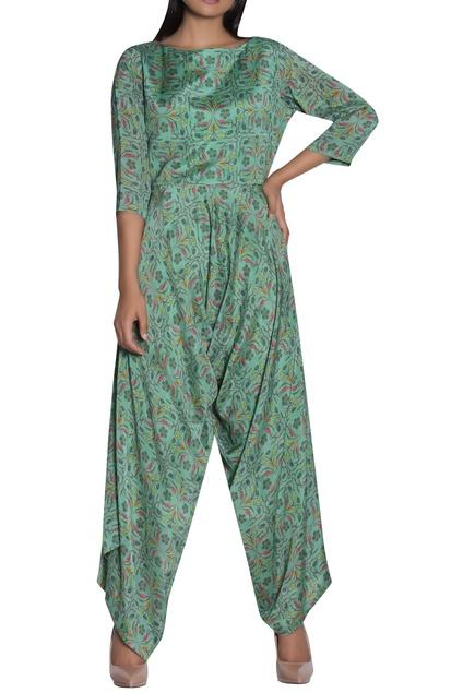 Printed Afghani style jumpsuit