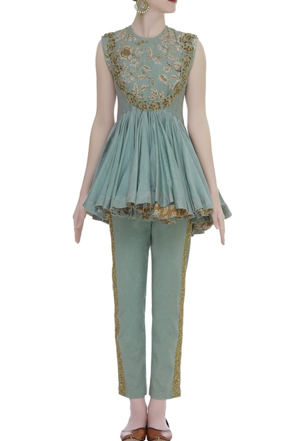 Embroidered Jumpsuit With Ballerina Jacket