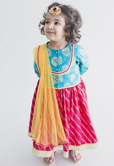 Kurta with blouse & dupatta