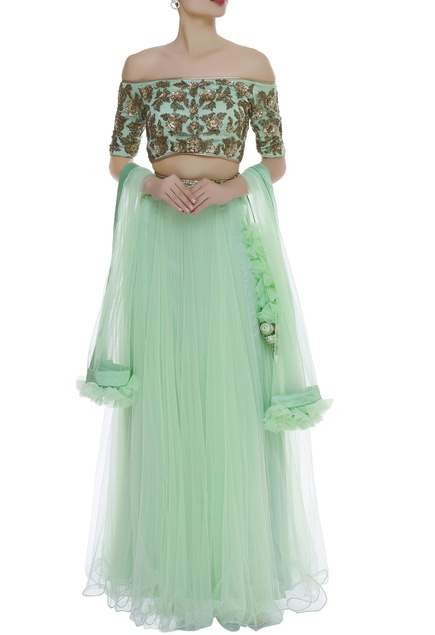 Sequin & zardozi embroidered lehenga set