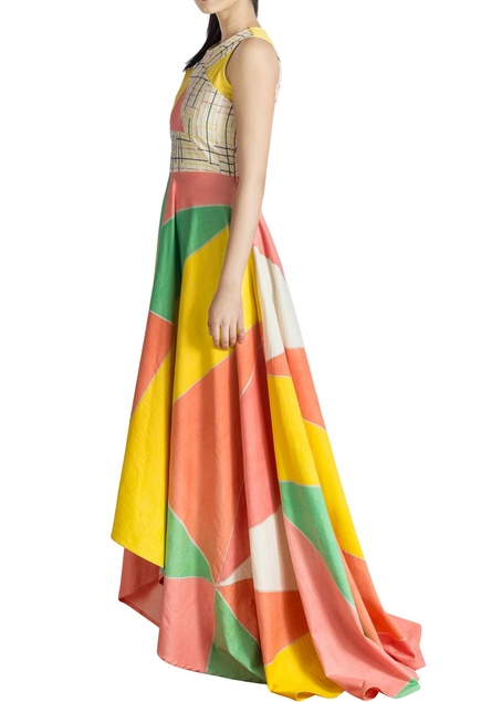 Cut-out bodice dress