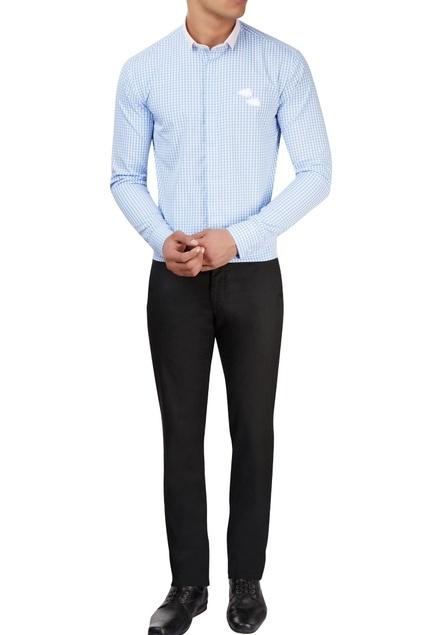 Light blue & white checkered shirt