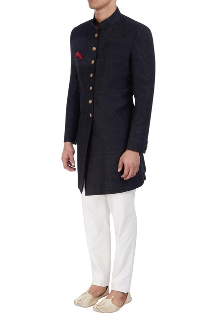 Black embroidered sherwani