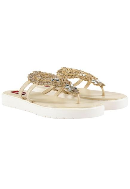 Cream gotta work platform sandals