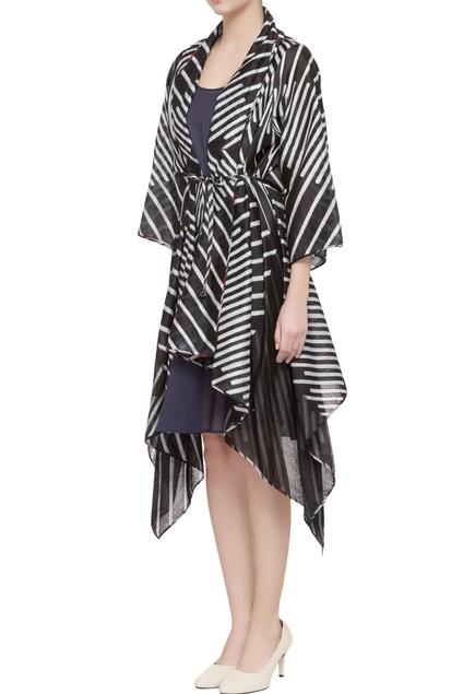 Black shibori printed jacket