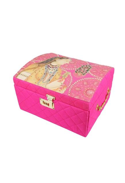 Pink faux crystal embellished trunk