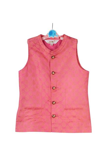 Pink brocade jacket set