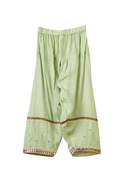 Purple cotton silk kurta set