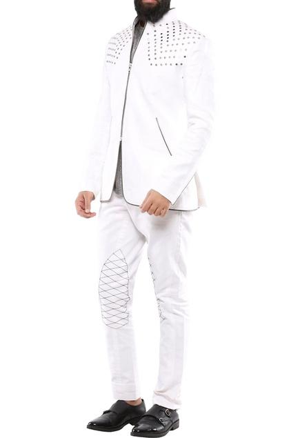 White linen rivits jacket