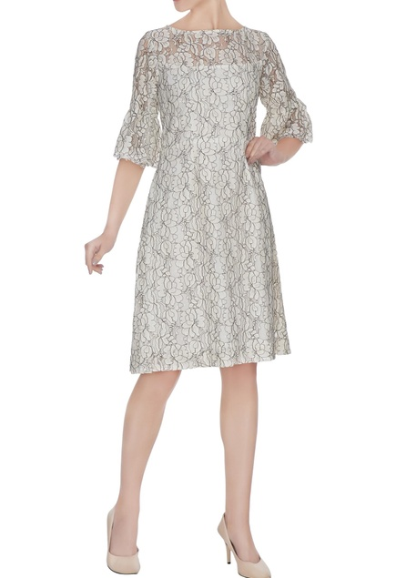 Whit floral lace dress