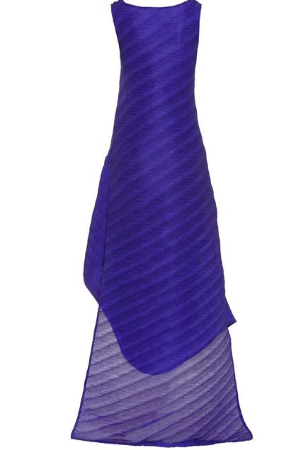 Sleeveless high low maxi dress