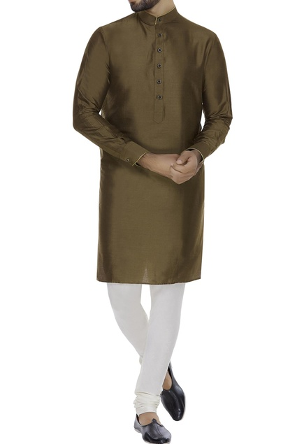 Cotton silk kurta