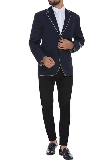 Silk wool blend blazer jacket