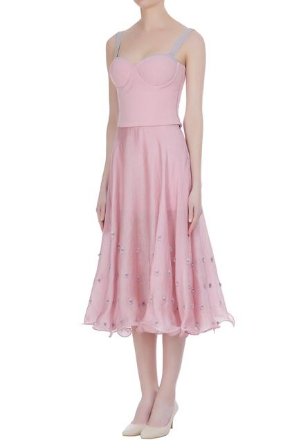 Ice-cream hued organza skirt with corset