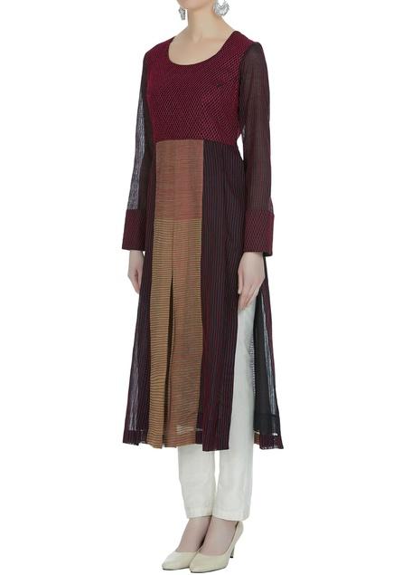 High slit style textured kurta