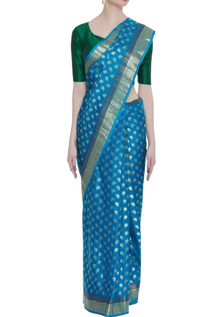 Pure georgette base hand woven sari