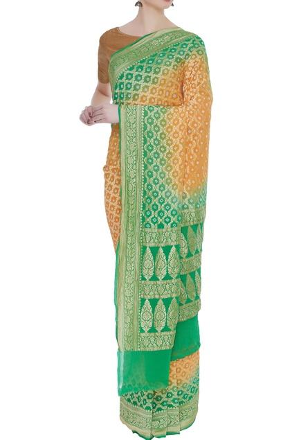 Handwoven katan silk sari