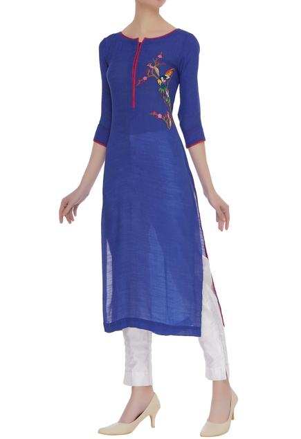 Long kurta with embroidery work