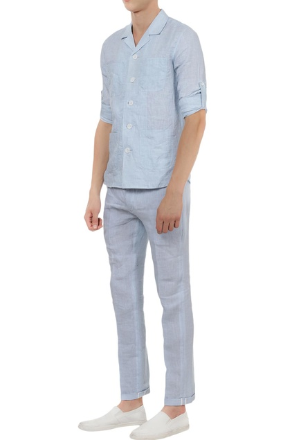 Linen cuban shirt with pants