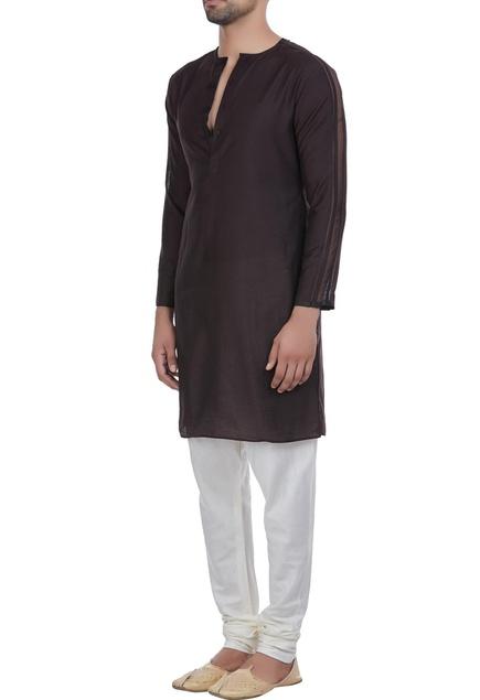 Short kurta with button placket