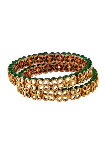Kundan work festive bangles