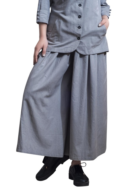 Button down shirt with palazzo pants