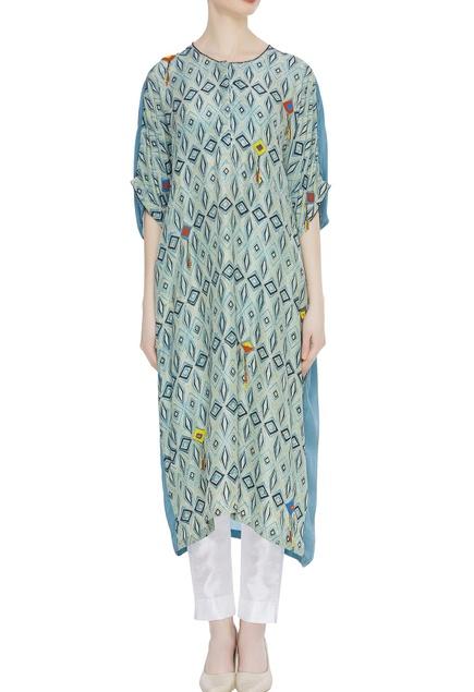Hand block print naturally dyed tunic