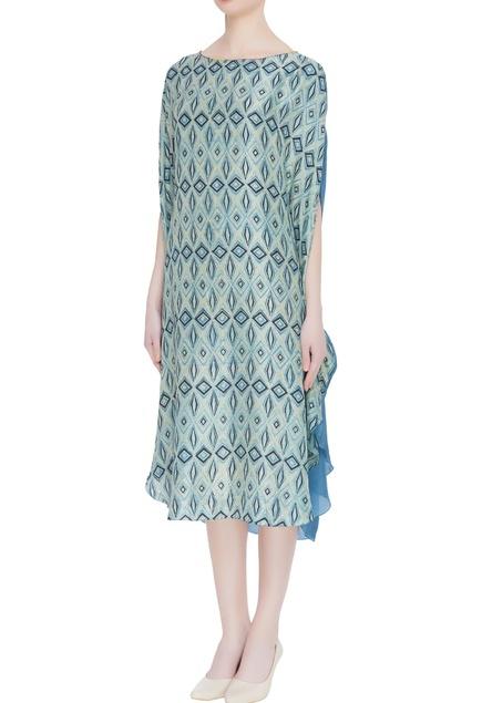 Hand block print naturally dyed dress