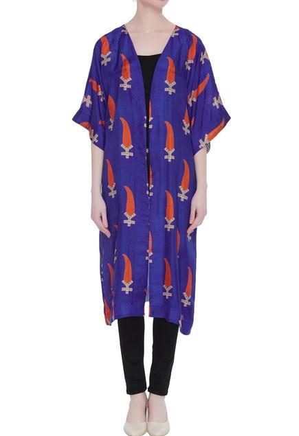 Sassy silk dyed kimono jacket