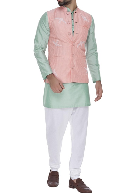 Pintuck embroidered waistcoat